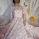 """Šaty - FLORAL FOLK """" Romantic Flower """", spoločenské dlhé šaty (midi šaty) - 13447649_"""