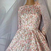 """Šaty - FLORAL FOLK """" Romantic Flower """", spoločenské dlhé šaty (midi šaty) - 13447628_"""
