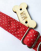 Pre zvieratá - Obojok Pipi - červený s mini bodkami - 13446557_
