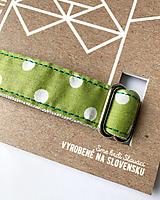 Pre zvieratá - Obojok Guliver - zelený s bielym guľkami - 13446579_