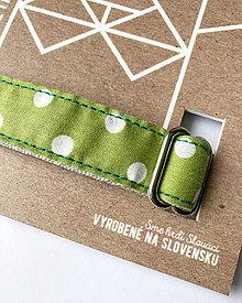 Pre zvieratká - Obojok Guliver - zelený s bielym guľkami - 13446579_