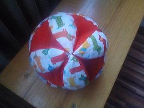 Hračky - Montessori lopta bavlnená- obvod 42 cm - 13447740_