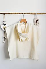 Detské oblečenie - Detské plážové pončo (100% organická bavlna) - 13445831_