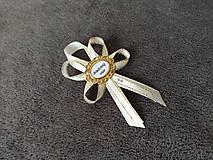 Pierka - Zlaté svadobné pierka pre rodičov - 13446411_