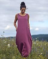 Šaty - Lněné maxi šaty laRose - 13446563_
