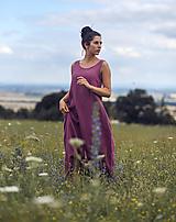 Šaty - Lněné maxi šaty laRose - 13446564_