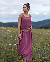 Šaty - Lněné maxi šaty laRose - 13446565_