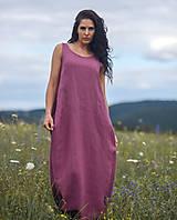 Šaty - Lněné maxi šaty laRose - 13446566_