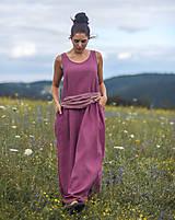 Šaty - Lněné maxi šaty laRose - 13446568_