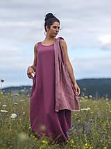 Šaty - Lněné maxi šaty laRose - 13446569_