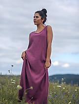 Šaty - Lněné maxi šaty laRose - 13446570_