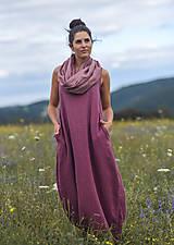 Šaty - Lněné maxi šaty laRose - 13446571_