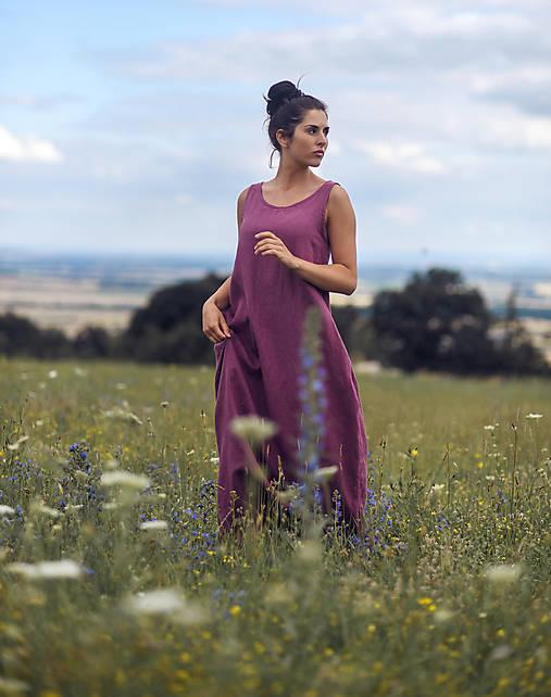 Lněné maxi šaty laRose