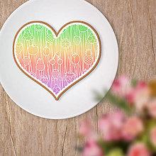 Dekorácie - Srdce potlač na koláč - ovocné krajky - 13445857_