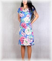 Šaty - Šaty s řasením v pase vz.665 - 13449924_