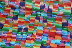 Textil - Úplet Farebná mozaika viskóza - 13449176_