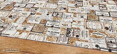 Textil - Bavlna režná - Etikety - cena za 10 cm - 13450378_