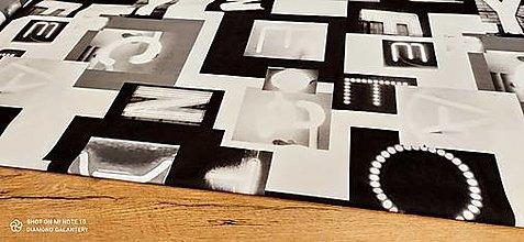 Textil - Kostýmovka - Words - cena za 10 cm - 13450579_