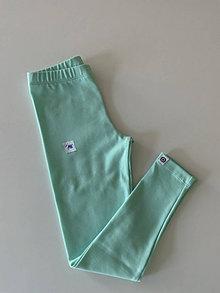 Detské oblečenie - Legíny mint dlhé - 13448222_