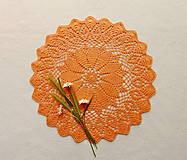 Úžitkový textil - Háčkovaná dečka Večerné slnko - 13449804_