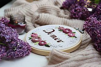 Dekorácie - Romantická výšivka Domov ♡ - 13449267_