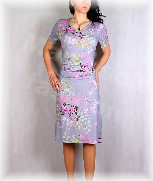 Šaty s řasením v pase vz.650
