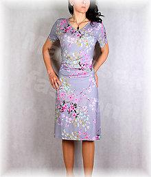 Šaty - Šaty s řasením v pase vz.650 - 13452798_