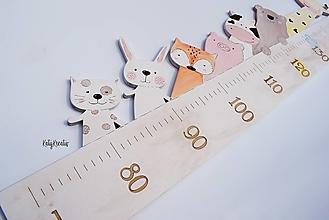 Detské doplnky - Rastový meter so zvieratkami - 13452315_