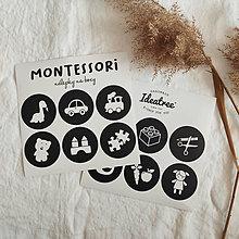 Papiernictvo - Montessori okrúhle nálepky na boxy - 13451514_