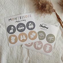 Papiernictvo - Montessori okrúhle nálepky na boxy - Pastelové - 13451646_