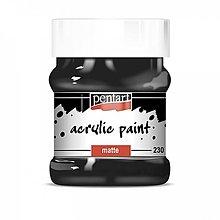 Farby-laky - Akrylová farba 230 ml, matná, čierna - 13452437_