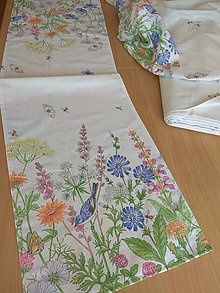 Úžitkový textil - Štóla s kvetmi po koncoch - 13452532_