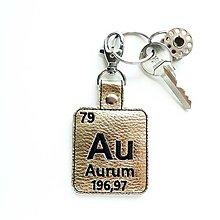 Kľúčenky - Kľúčenka prvok Au-som tvoje zlato - 13452692_