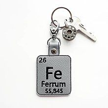 Kľúčenky - Kľúčenka prvok Fe-mám nervy z ocele - 13452929_