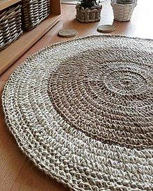 Úžitkový textil - Jutovy koberec FARMHOUSE okrúhly - 13452016_