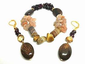 Sady šperkov - Súprava šperkov hnedá - 13453026_