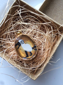 Náhrdelníky - Vtáčik (Prívesok, Medailónik) - 13451551_