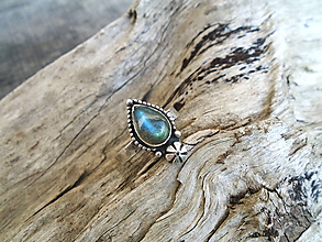 Prstene - Strieborny prsteň Ag925 Marabella- Labradorit - 13451478_