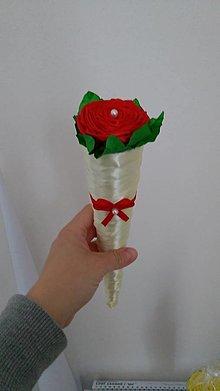 Dekorácie - Ružička v kornútku - 13453197_