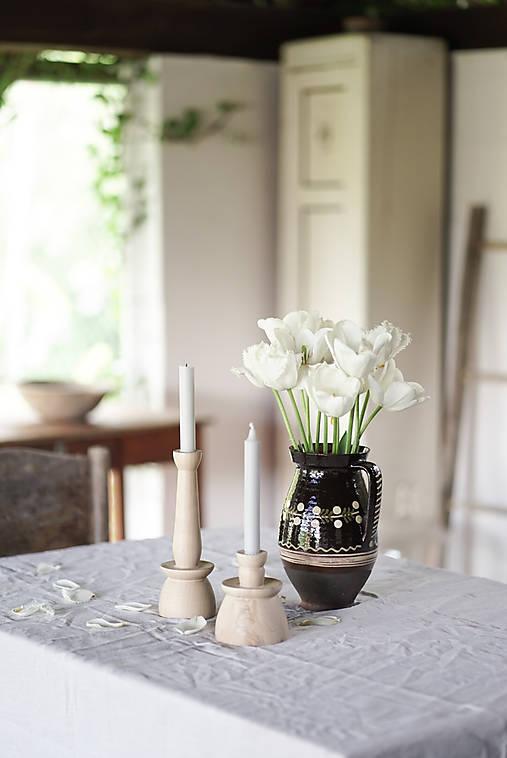 Svietidlá a sviečky - Sada svietniky 2ks/javor 2 - 13451335_