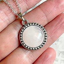 Náhrdelníky - Rose Quartz Antique Silver Pendant / Privesok s ruženínom - 13454823_