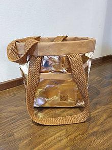 Veľké tašky - Taška rosegold z umývateľného papiera - 13455845_