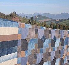 """Úžitkový textil - prehoz na posteľ """"upcydenim"""" - 13453673_"""
