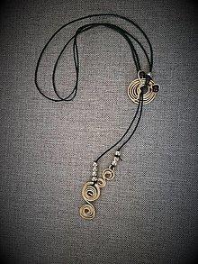 Náhrdelníky - Náhrdelník so špirálkami - 13455438_