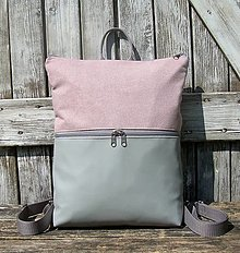 "Batohy - ""new backpack 3in1- grey&rose"" - Batoh & taška cez rameno - 13455398_"