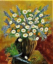 Obrazy - Lúčne kvety - 13456973_