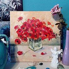 Obrazy - Červené maky - 13456883_