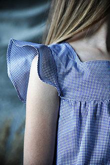 Detské oblečenie - Modré dievčenské šaty - 13456509_