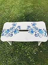 Nábytok - Drevený stolček, šamlík - 13457342_
