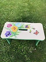 Nábytok - Drevený stolček, šamlík - 13457348_